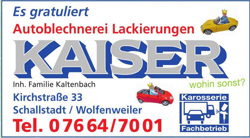 Autoblechnerei Lackierungen Kaiser