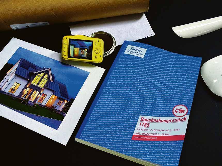 Mit Formularbüchern die Bauabnahme übersichtlich und rechtssicher dokumentieren. Foto: Avery Zweckform/akz-o