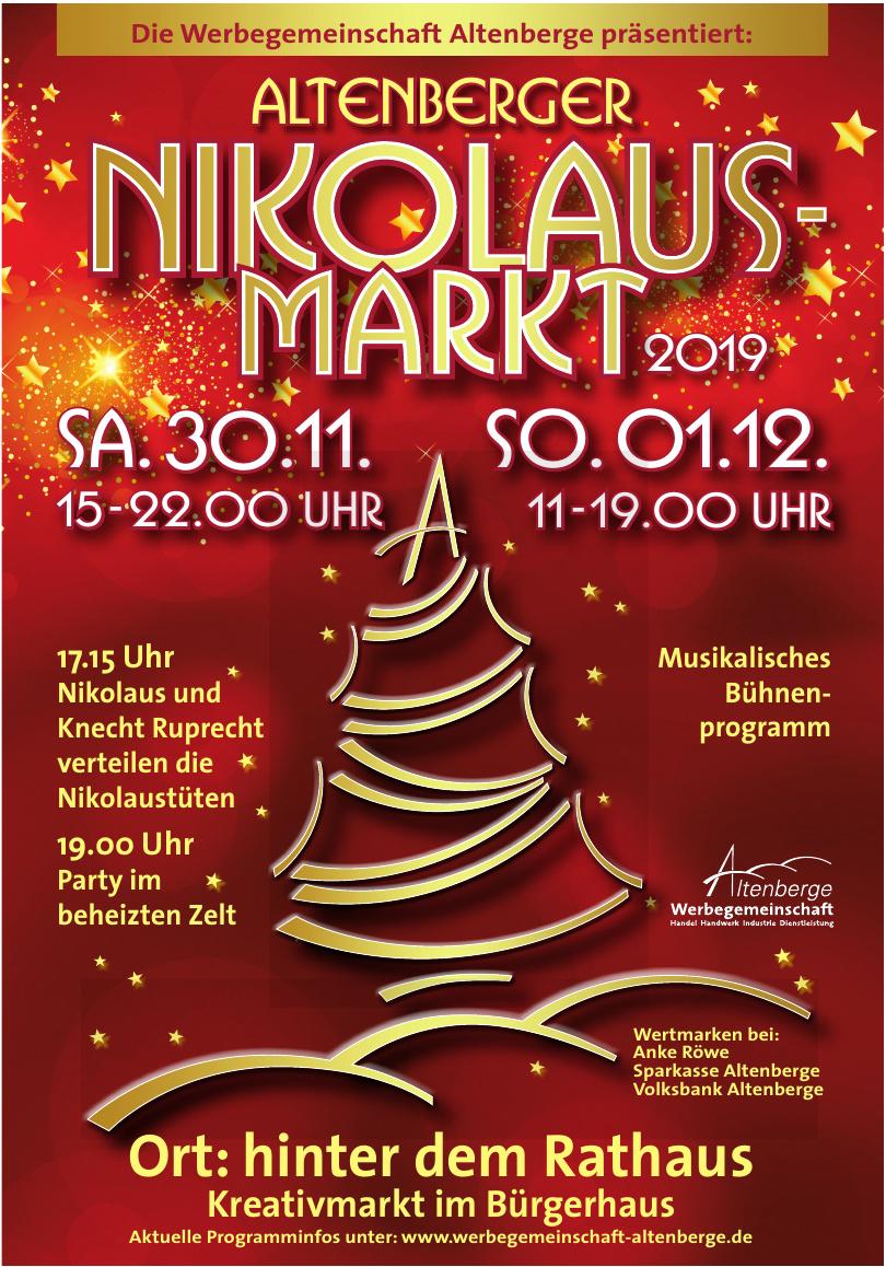 Altenberger Nikolaus-Markt 2019