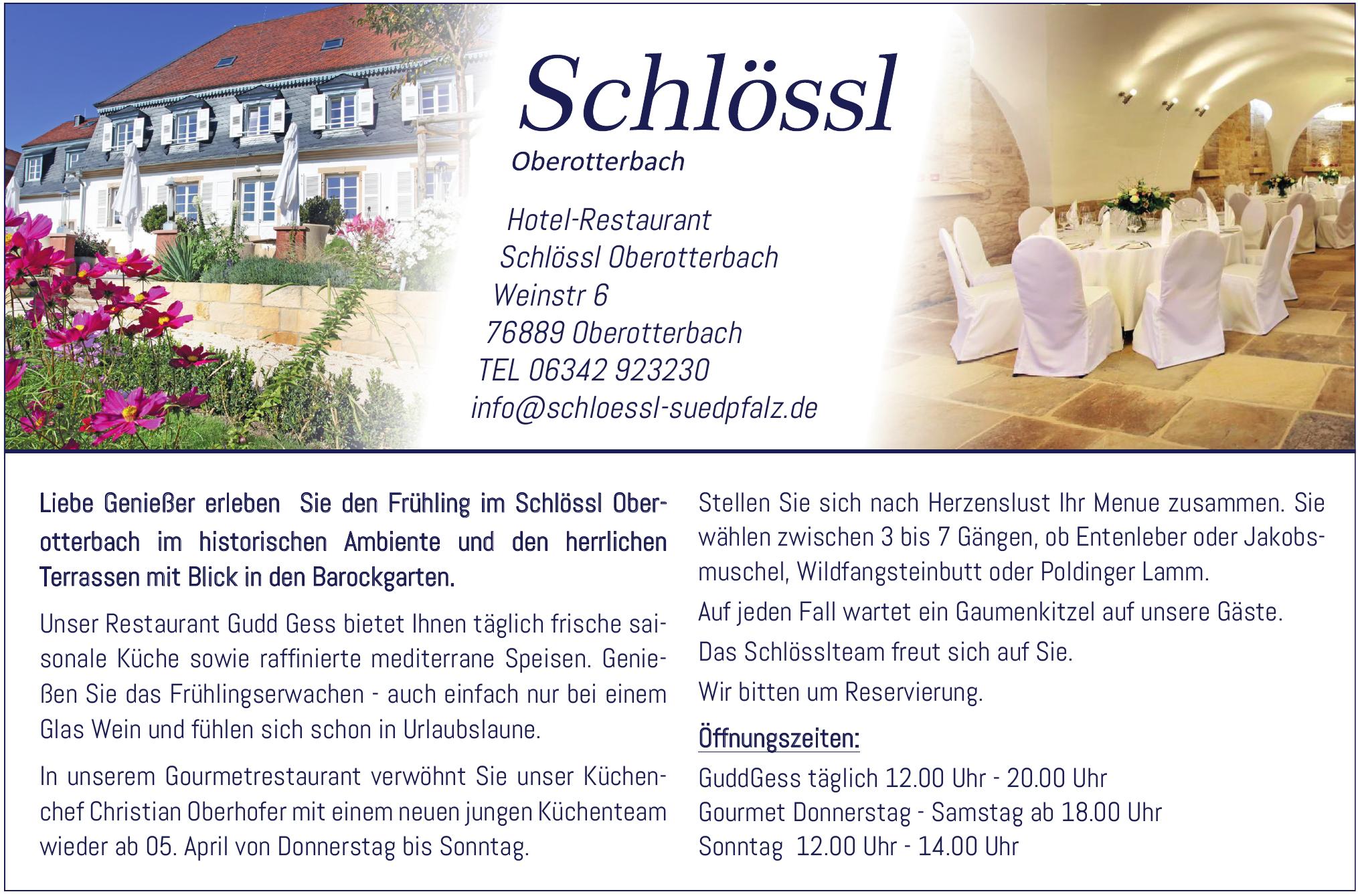 Hotel-Restaurant Schlössl Oberotterbach