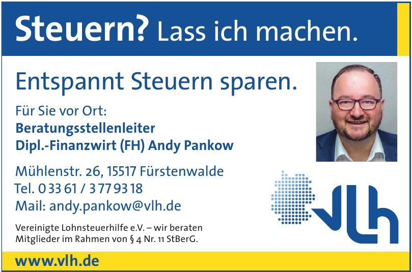 Vereinigte Lohnsteuerhilfe e.V. - Dipl.-Finanzwirt (FH) Andy Pankow