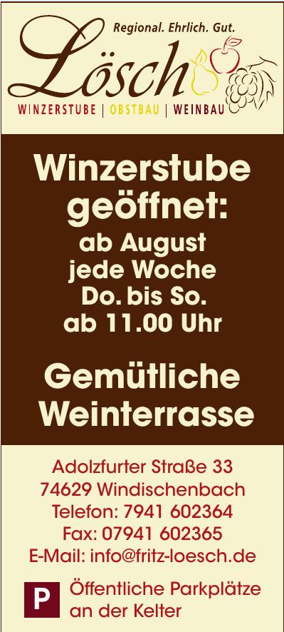 Weinbau · Obstbau · Winzerstube Lösch