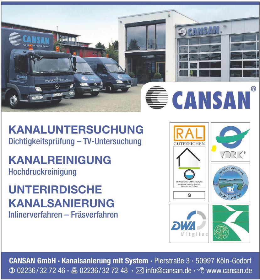 CANSAN GmbH Kanalsanierung mit System