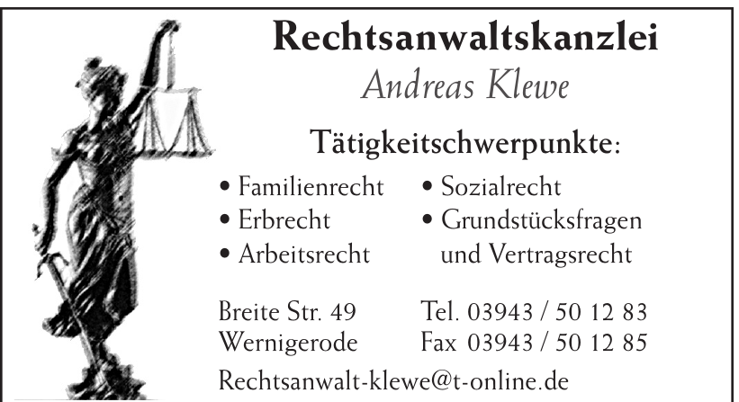 Rechtsanwaltskanzlei Andreas Klewe