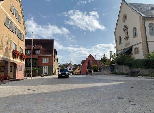 Die neue Ortsmitte in Hagelloch wird am kommenden Wochenende zum Zentrum des Dorffestes.
