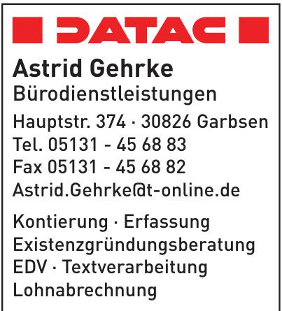 Astrid Gehrke Bürodienstleistungen