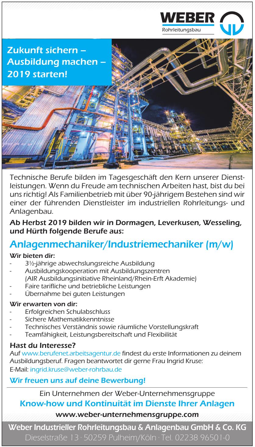 Weber Industrieller Rohrleitungsbau & Anlagenbau GmbH & Co. KG