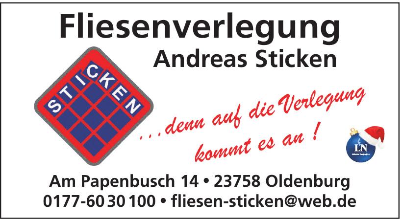 Fliesenleger Andreas Sticken