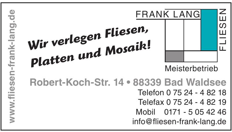 Frank Lang Fliesen