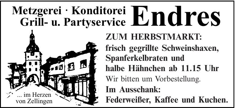 Metzgerei · Konditorei Grill- u. Partyservice Endres