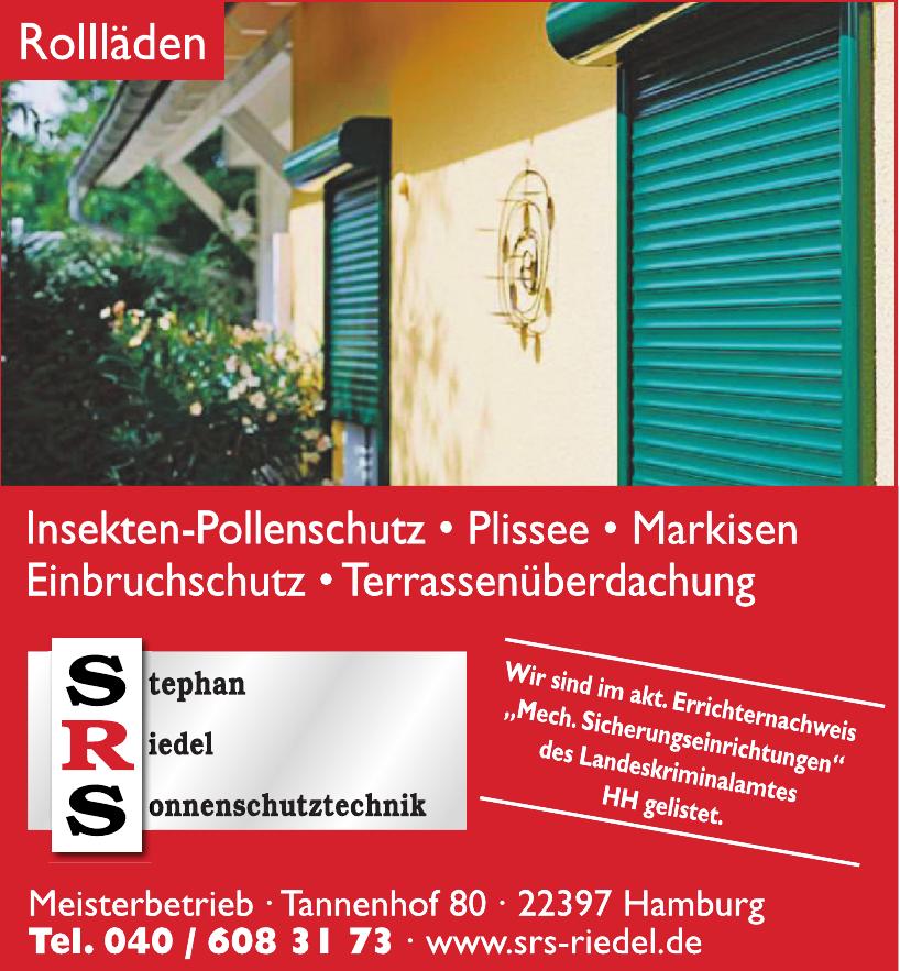 SRS Stephan Riedel Sonnenschutztechnik