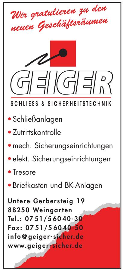 Geiger Schliess & Sicherheitstechnik