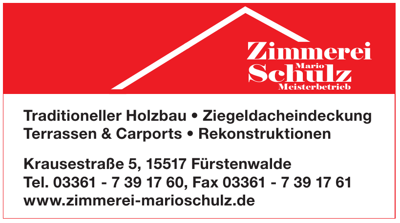 Zimmerei Mario Schulz