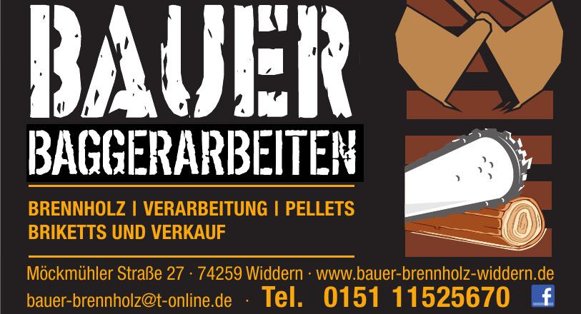 Bauer Baggerarbeiten