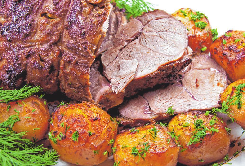 Einfach lecker: Ein Osterbraten mit frischem Fleisch aus der Metzgerei.