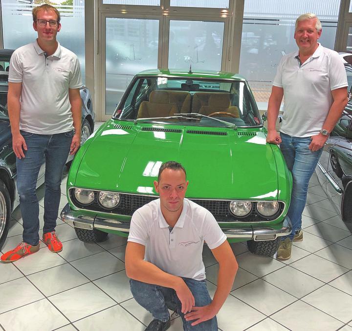Inhaber Torsten Genske (rechts) und seine Aufbereitungsspezialisten Andreas Meins und Sönke Nordmann Foto: AZ