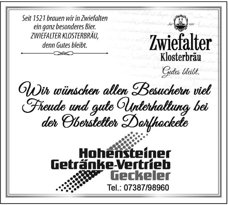 Hohensteiner Getränke-Vertrieb Geckeler