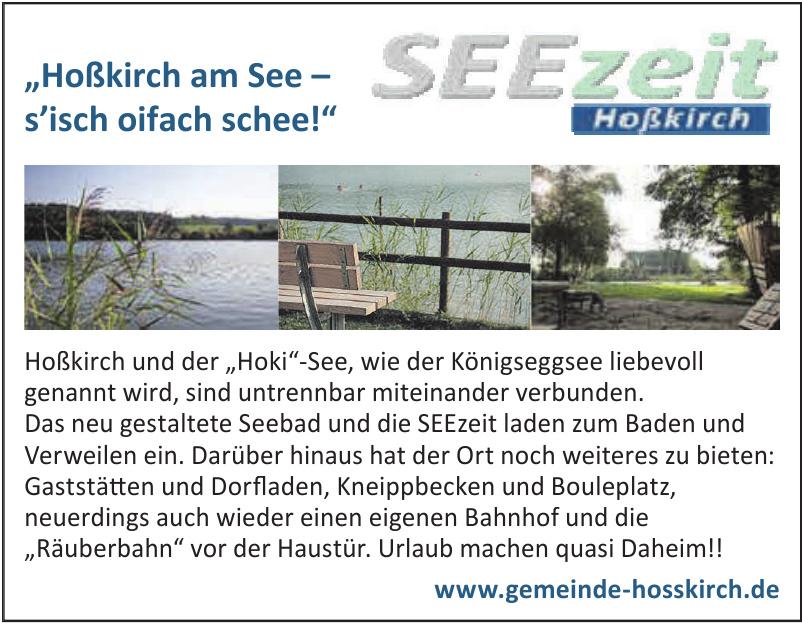 Hoßkirch am See