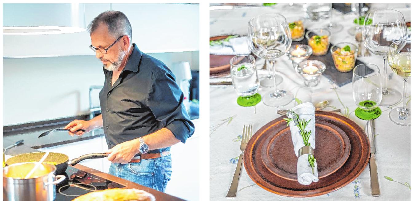 Der Bensheimer Unternehmer Ralph Gumb steht auch gerne am Herd. Bilder: Thomas Neu