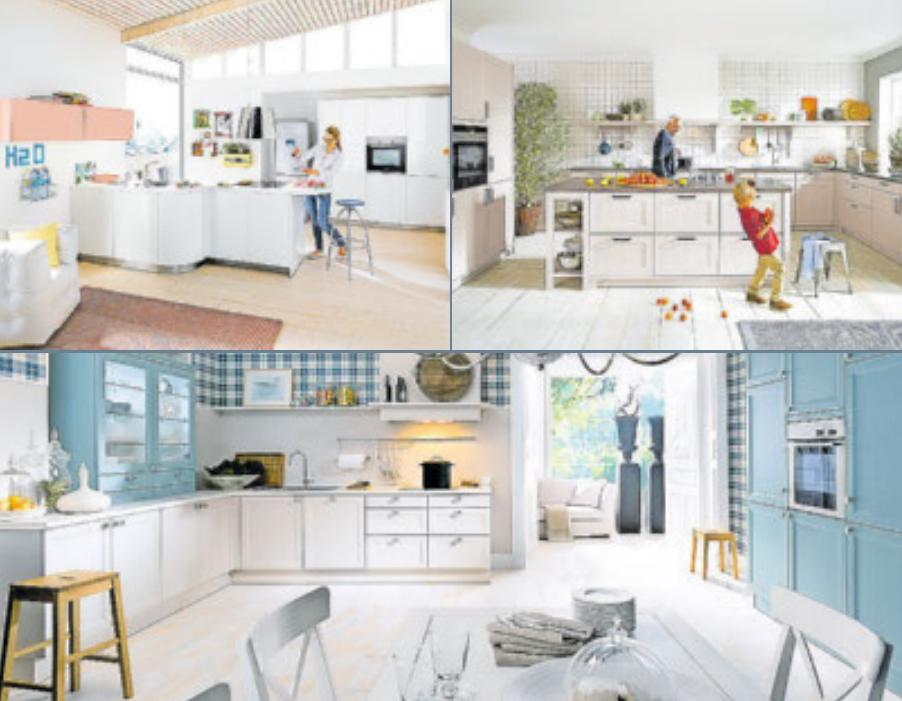Die Küchen von Schüller sind funktional und echte Hingucker. Fotos: Schüller