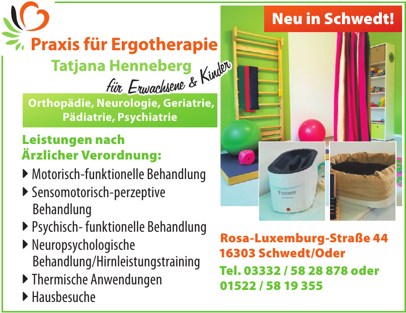Praxis für Ergotherapie Tatjana Henneberg