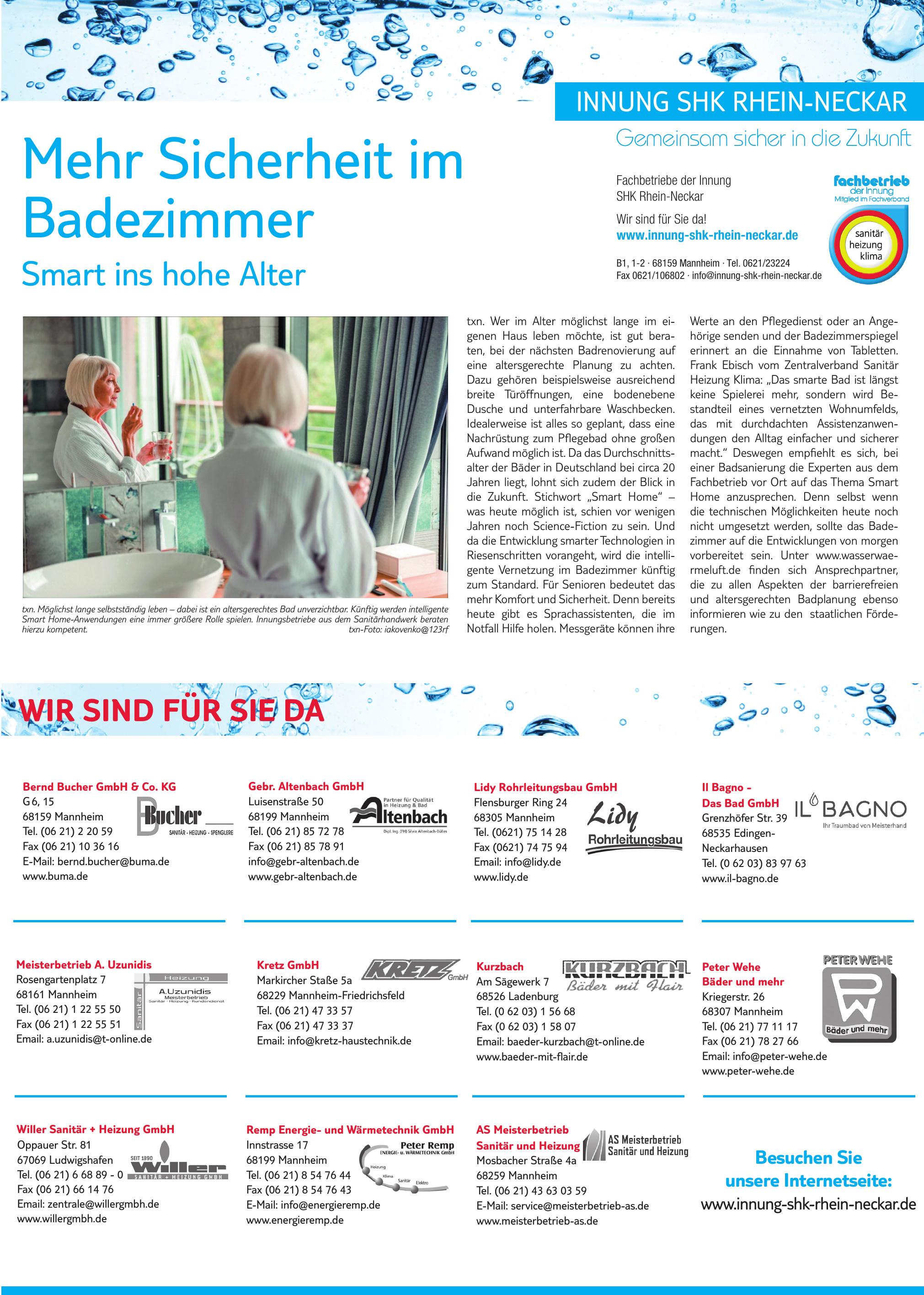 Fachbetriebe der Innung SHK Rhein-Neckar