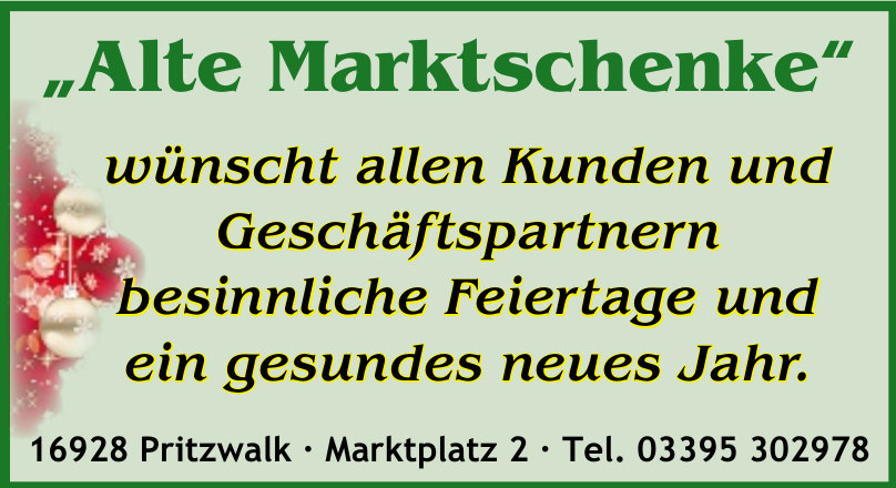 """""""Alte Marktschenke"""""""