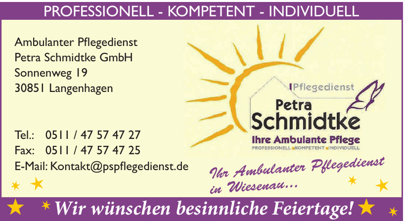 Ambulanter Pflegedienst Petra Schmidtke GmbH