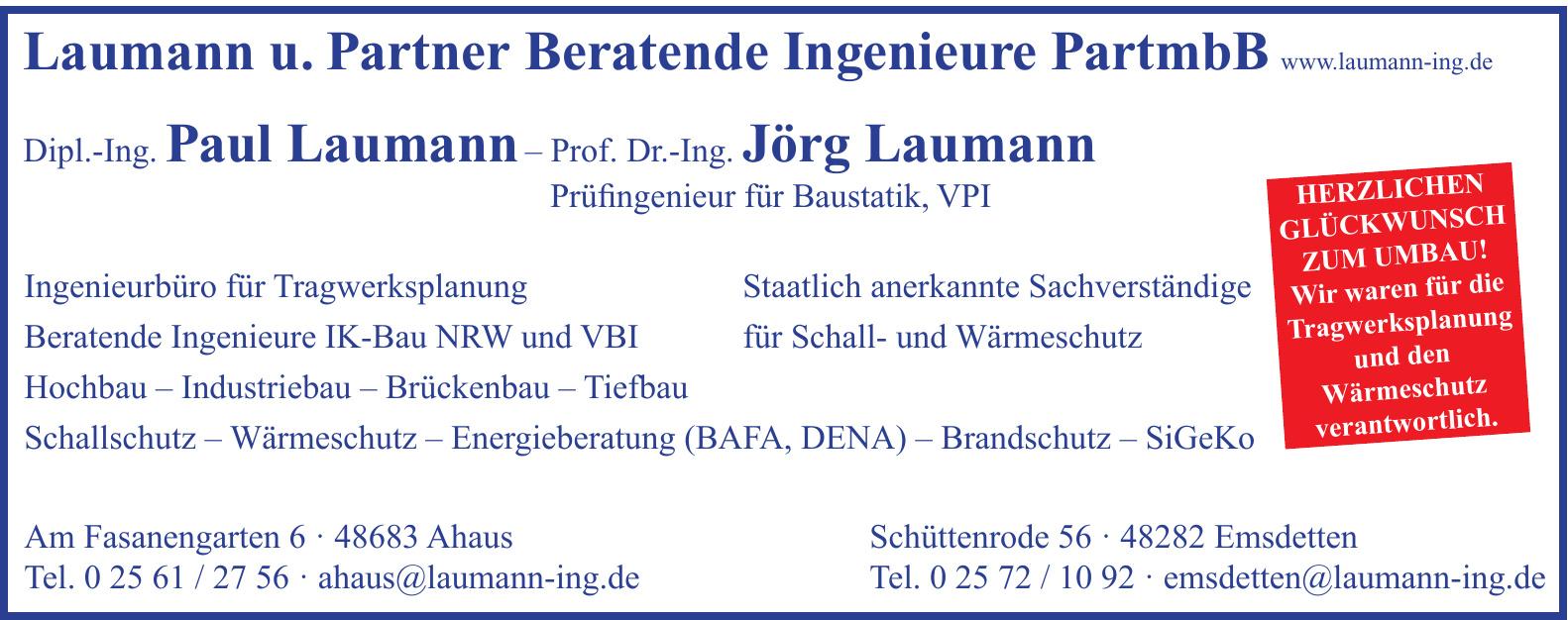 Laumann u. Partner Beratende Ingenieure PartmbB