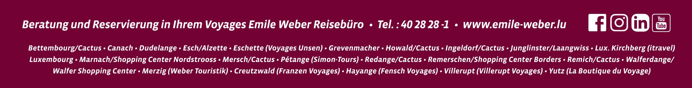 Voyages Emile Weber Reisebüro