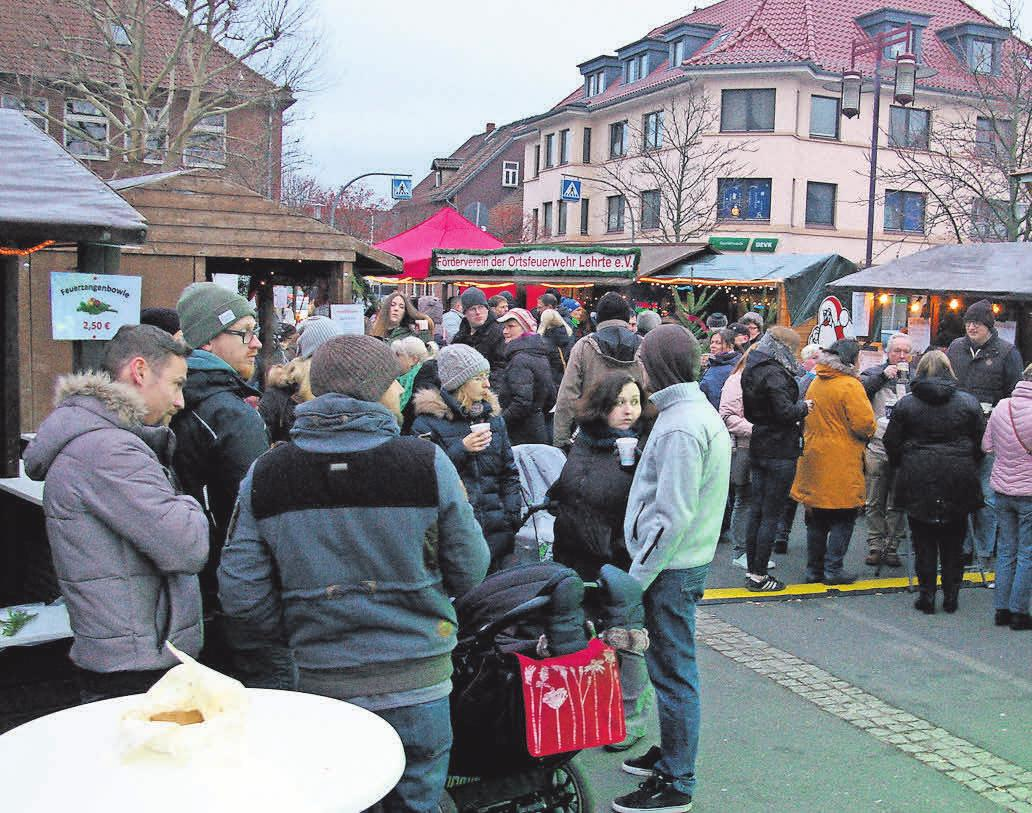Den Lehrter Weihnachtsmarkt mit seinem üblicherweise dichten Gedränge wird es in diesem Jahr nicht geben.