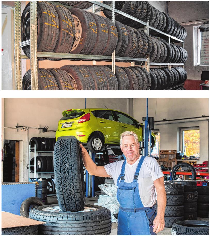 Geschäftsführer Wolfgang Vogeler (64) vom Reifen- und Autoservice in Fürstenwalde.