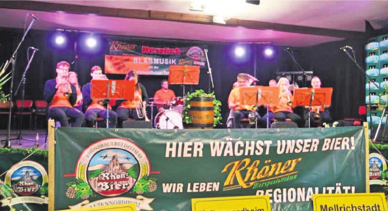 Zum Brauereifest ist gute musikalische Unterhaltung selbstverständlich. Fotos: Rhönbrauerei