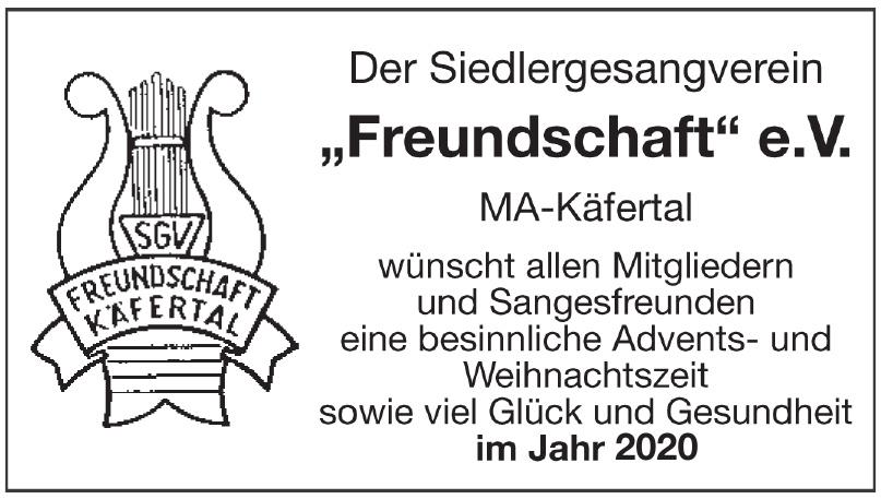 Der Siedlergesangverein Freundschaft e.V.