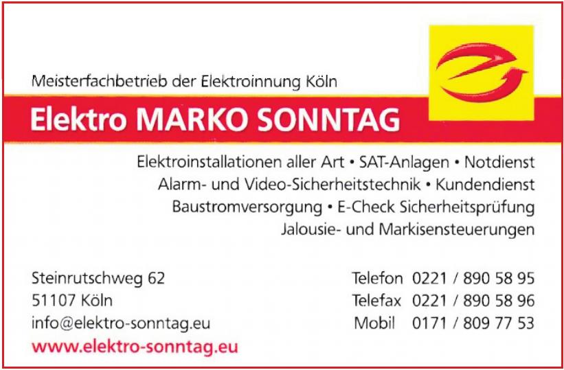 Elektro Marko Sonntag