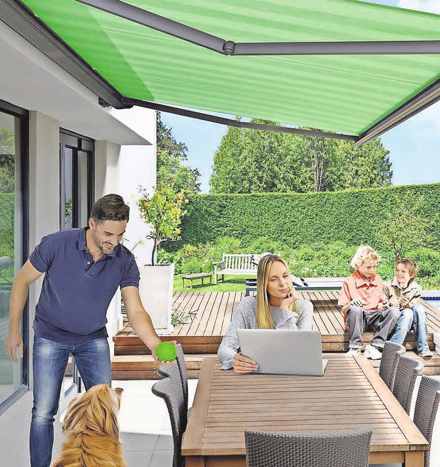 Markisen schaffen ein Freiluftwohnzimmer auf der Terrasse. Foto: Hersteller