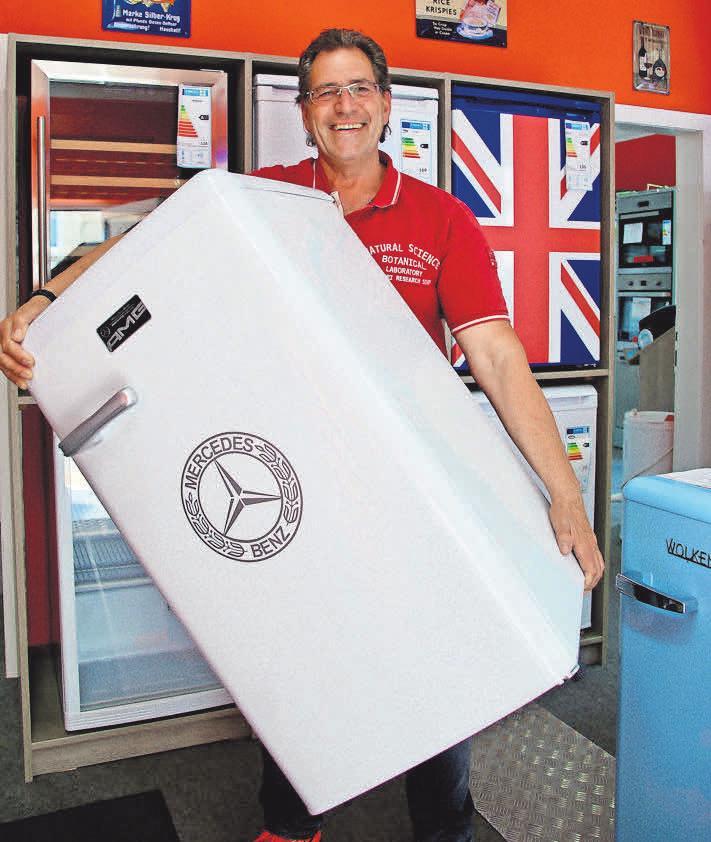 Große Auswahl zu Sommerpreisen – in der Elektro-Fundgrube lassen sich Kühlschränke individuell gestalten.