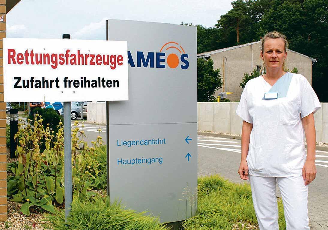 Täglich herrscht im Haldensleber Ameos-Klinikum ein reges Kommen und Gehen. Ein Hinweissystem sorgt für Orientierung.