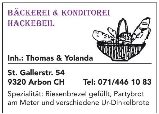 Bäckerei & Konditorei Hackebeil