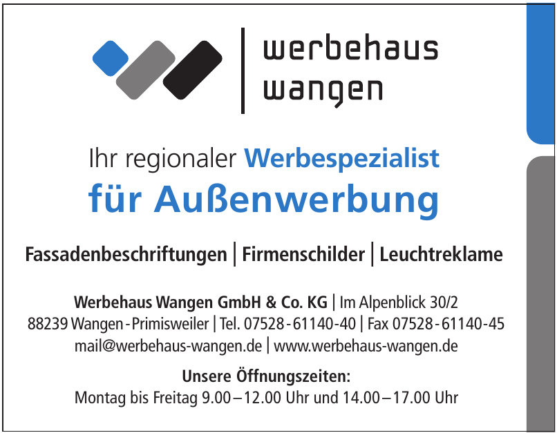 Werbehaus Wangen GmbH & Co. KG