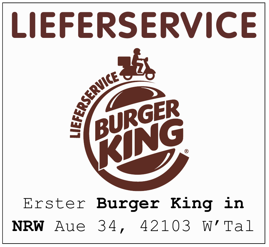 Lieferservice Burger King