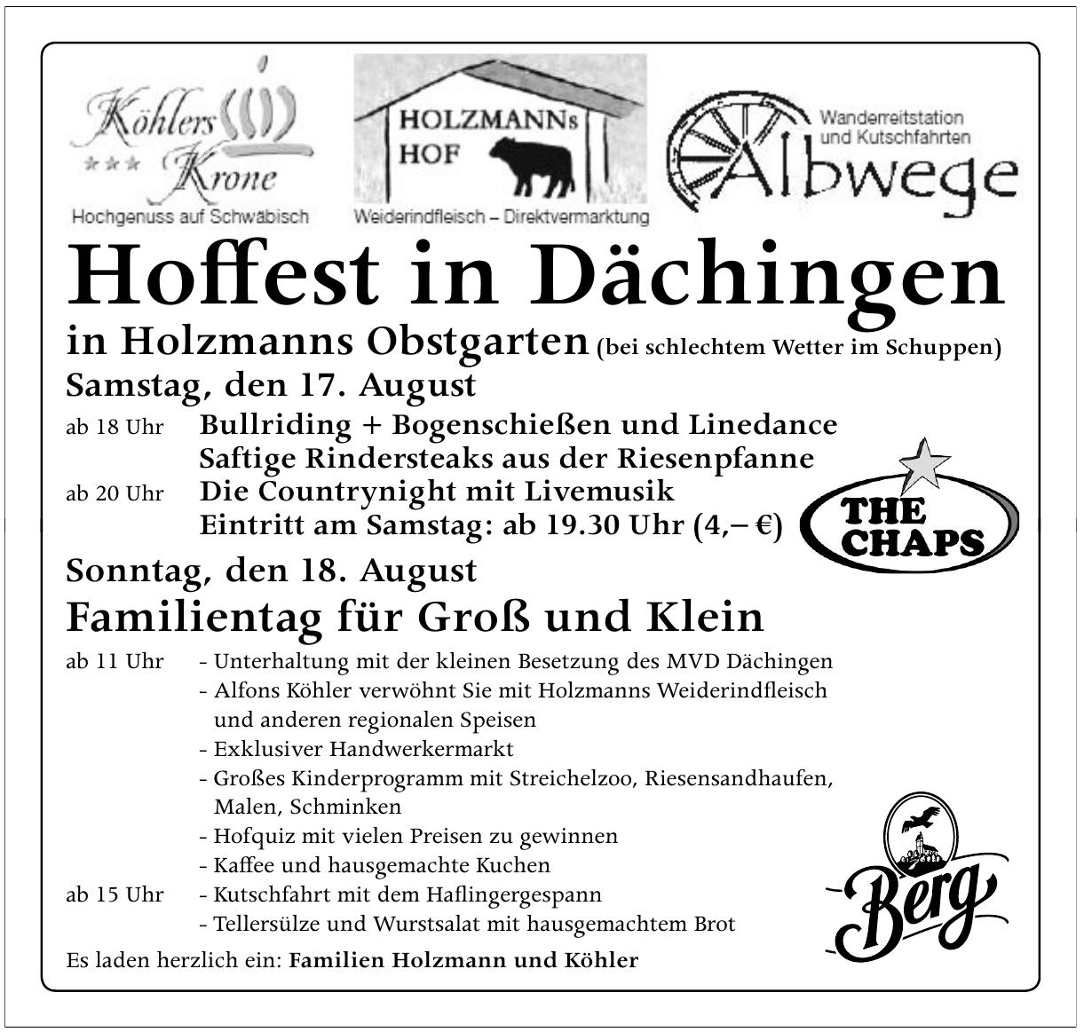 Hoffest in Dächingen
