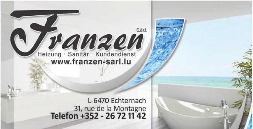 Franzen S.á.r.l. Heizung - Sanitär - Kundendienst