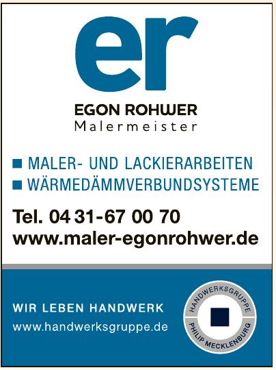 Egon Rohwer Malermeister