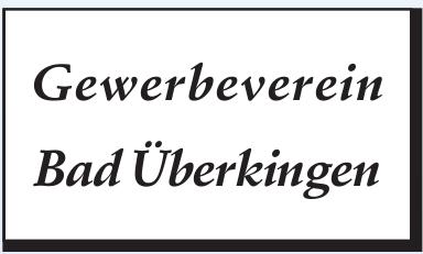 Gewerbeverein Bad Überkingen