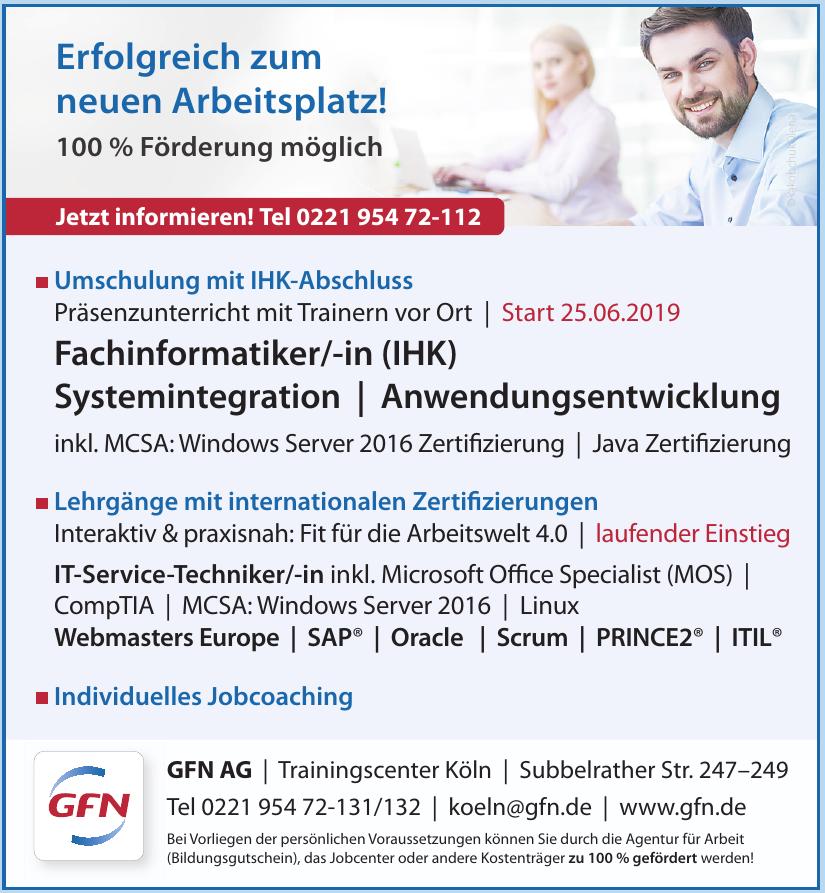 GFN AG - Trainingscenter Köln