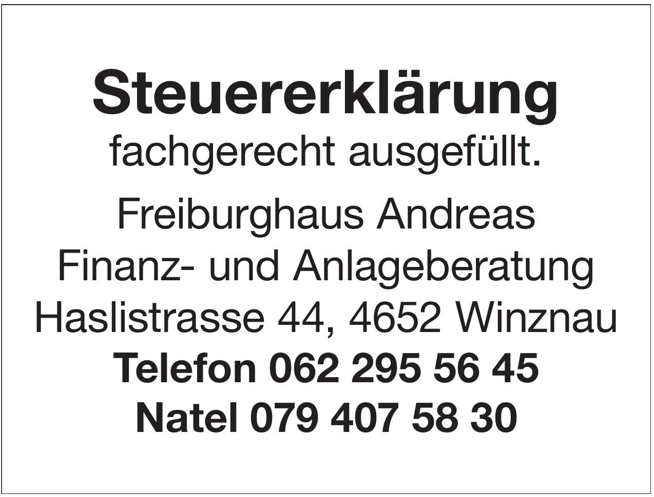 Freiburghaus Andreas Finanz- und Anlageberatung
