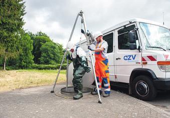 Kanalinspektionen gehören zu den Aufgaben des AZV