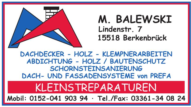 M. Balewski