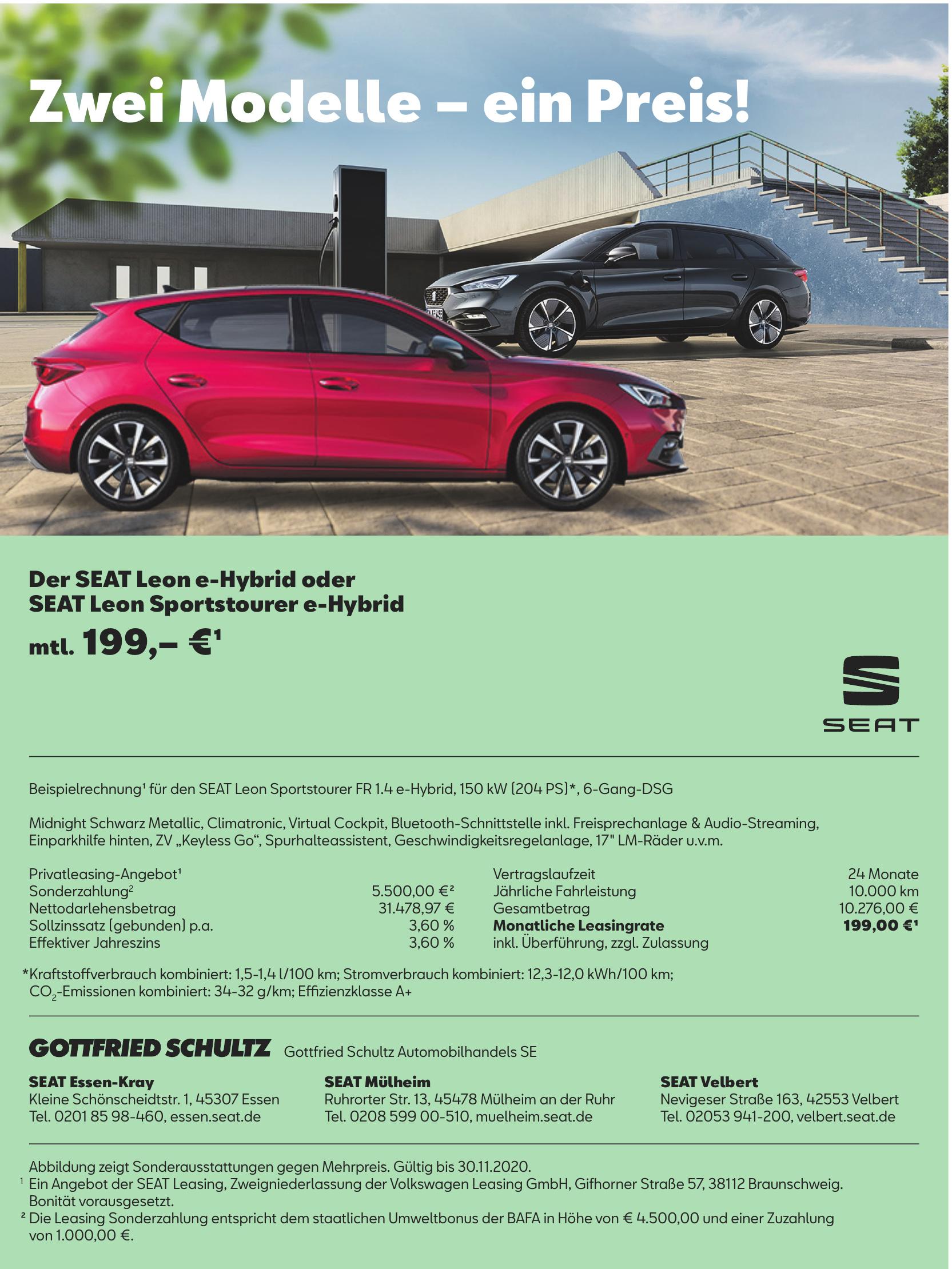 Gottfried Schultz Automobilhandels SE - SEAT Essen-Kray